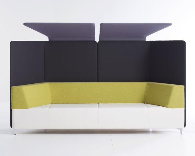 davis furniture: kontour bench with optional high back acoustical