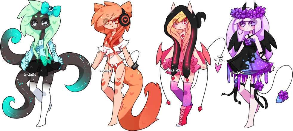 Adoptables Batch 17: CLOSED by Zombutts on DeviantArt