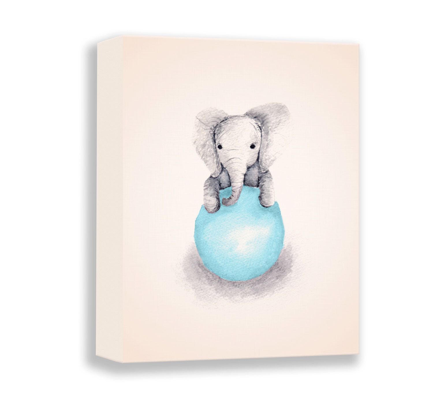 Watercolor Paintng - Canvas Print - Baby Boy Gift ...