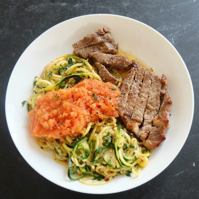Steak and  Zoodles