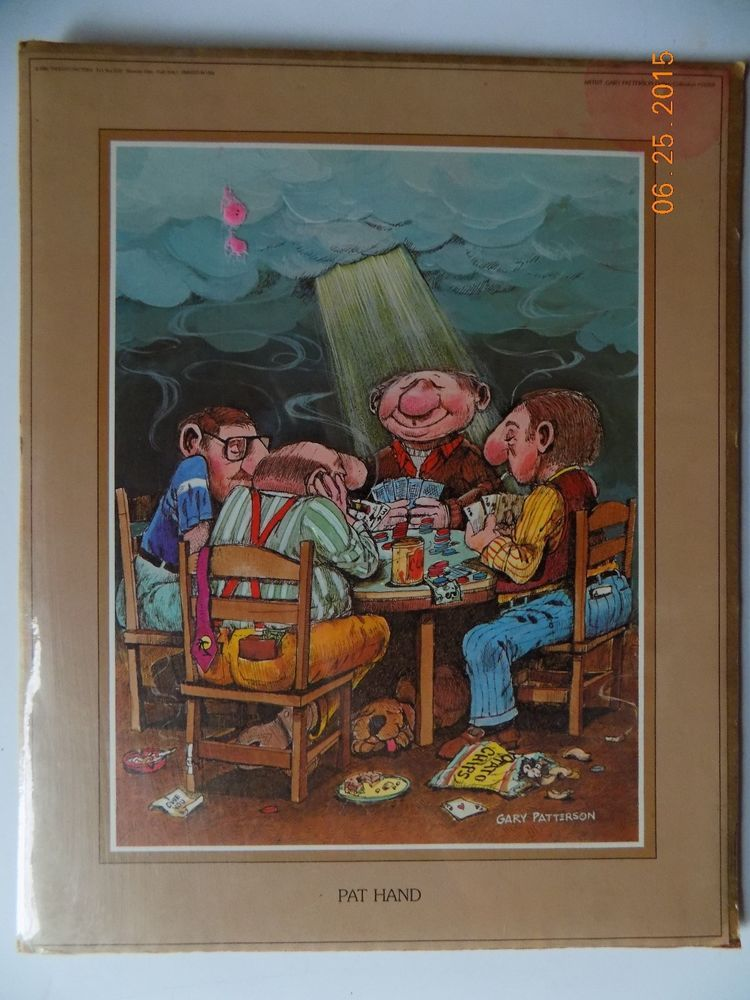 PREOWN PAT HAND OPEN EDITION HUMOR PRINT by ILLUSTRATOR