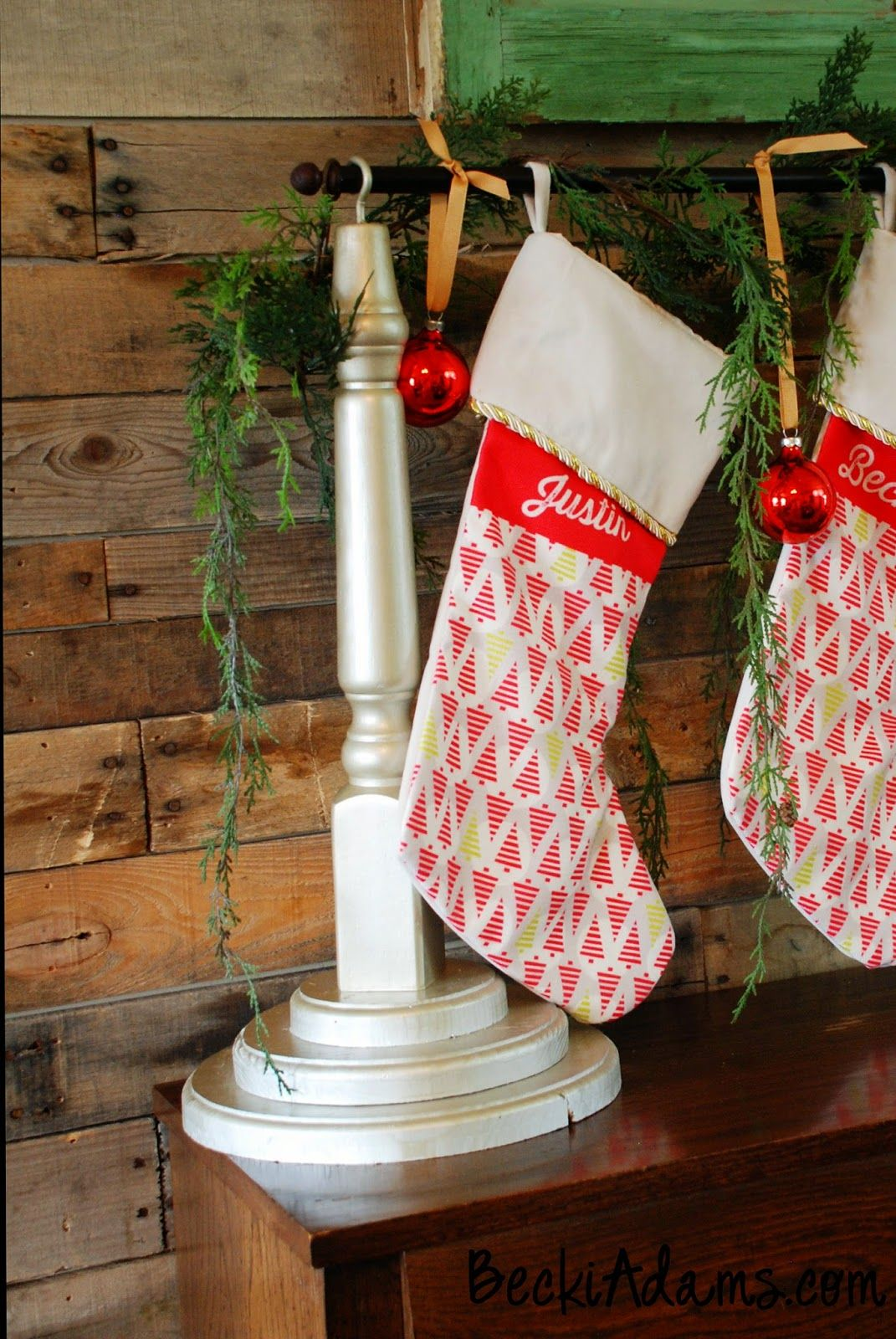 DIY Stocking Holder by @jbckadams with a tutorial