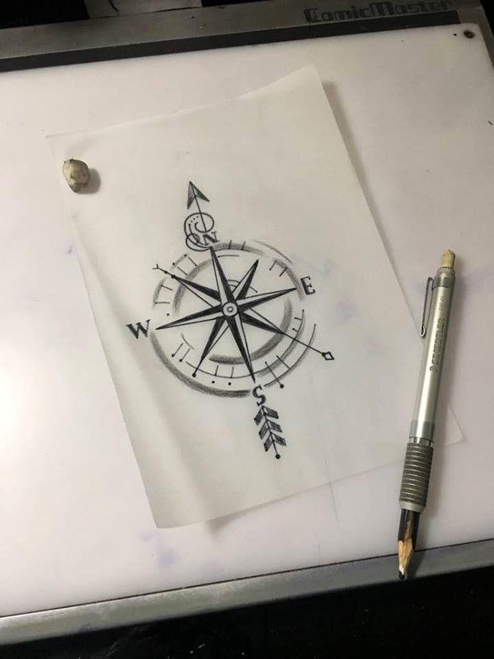 compass tattoo sketch - - #Uncategorized