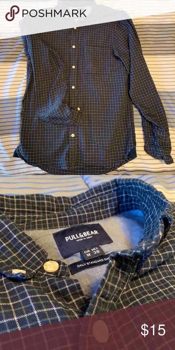 Pull Bear Casual Checkered Button Down Shirt Button Down Shirt Colorful Shirts Casual Shirts For Men