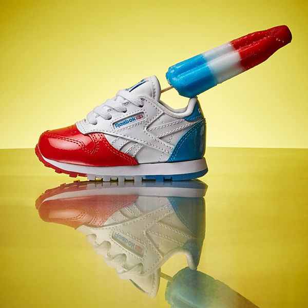 6a8800c90b7 ... these tasty Reebok Kids  Classic Leather  Bomb Pop  kicks (BS9159).  These preschool  Bomb Pop  sneakers in the popsicle-inspired Dessert Pack  see a red