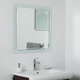 Decor Wonderland 30 In Silver Square Frameless Bathroom Mirror Ssm9007 With Images Mirror Wall Mirror Wall Bathroom Mirror