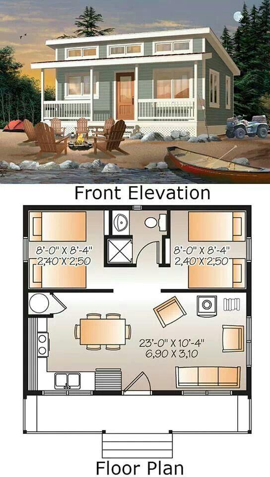 Projeto casa com 2 dormitórios - 1 banheiro - 39 metros quadrados