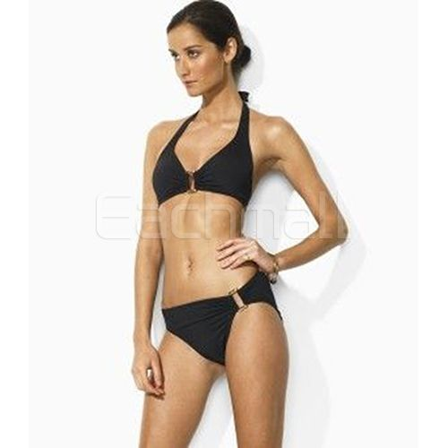 Ralph Lauren Classic Pony Ricky Top Bikini Black is on promation, don't  loss the chance.