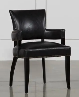 250 Living Spaces Kent Not Real Leather But Look Is Very Cool Could Last A While If You Re Gentle On Them Dining Chairs Chair Dining