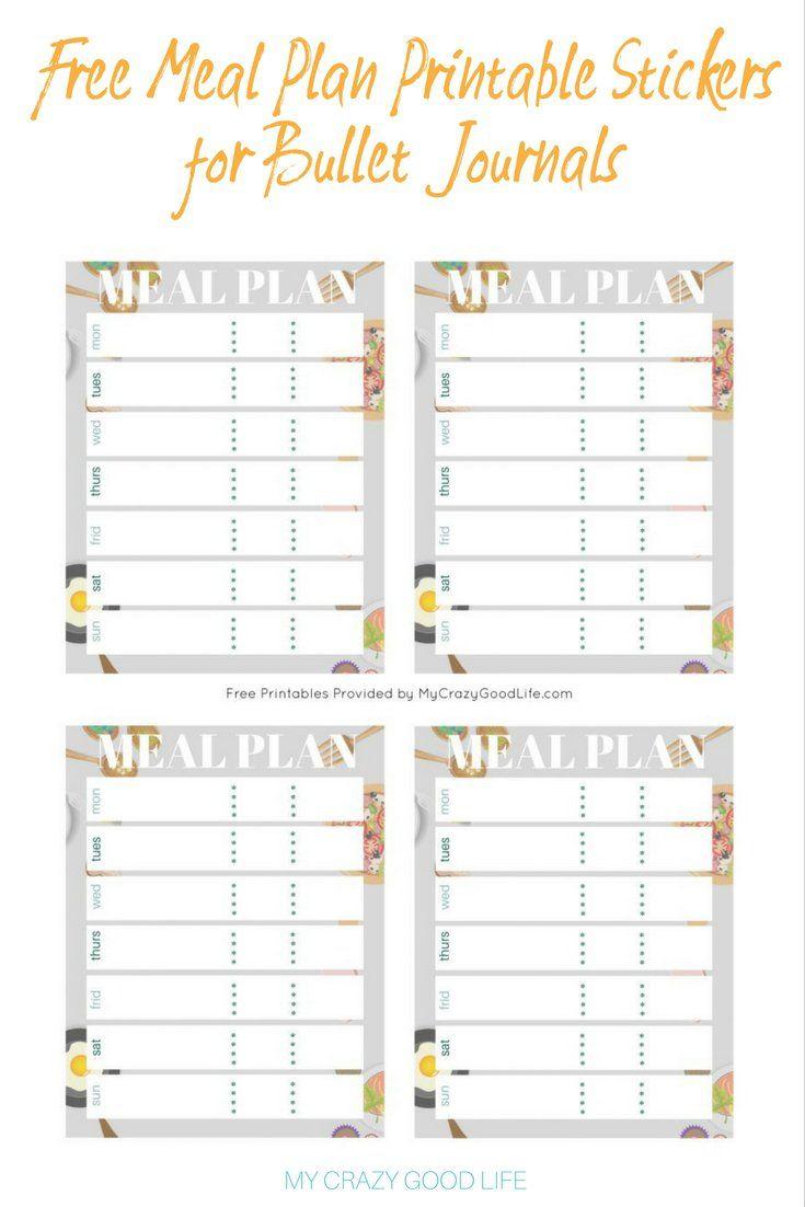 free meal plan templates