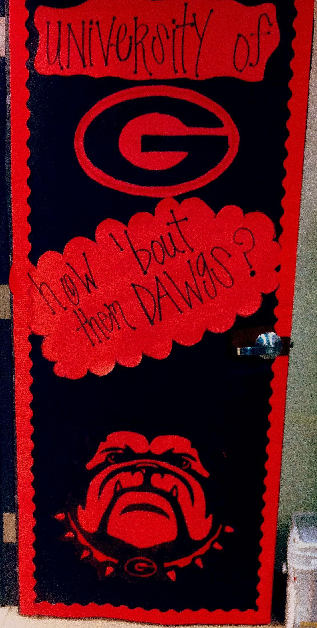 College Door Decorating Contest University Of Georgia   Bulldogs ! Ms.  Babau0027s 2013 2014