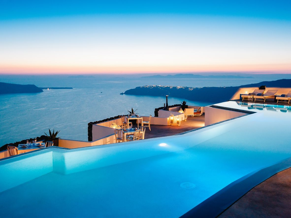 Designhotel Grace Santorini : Piscinas infinitas increíbles santorini griechenland