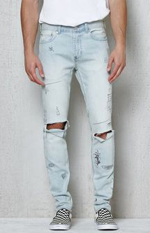 Skinniest Destroyed Scribbled Stretch Jeans  d9e8f129c0a0