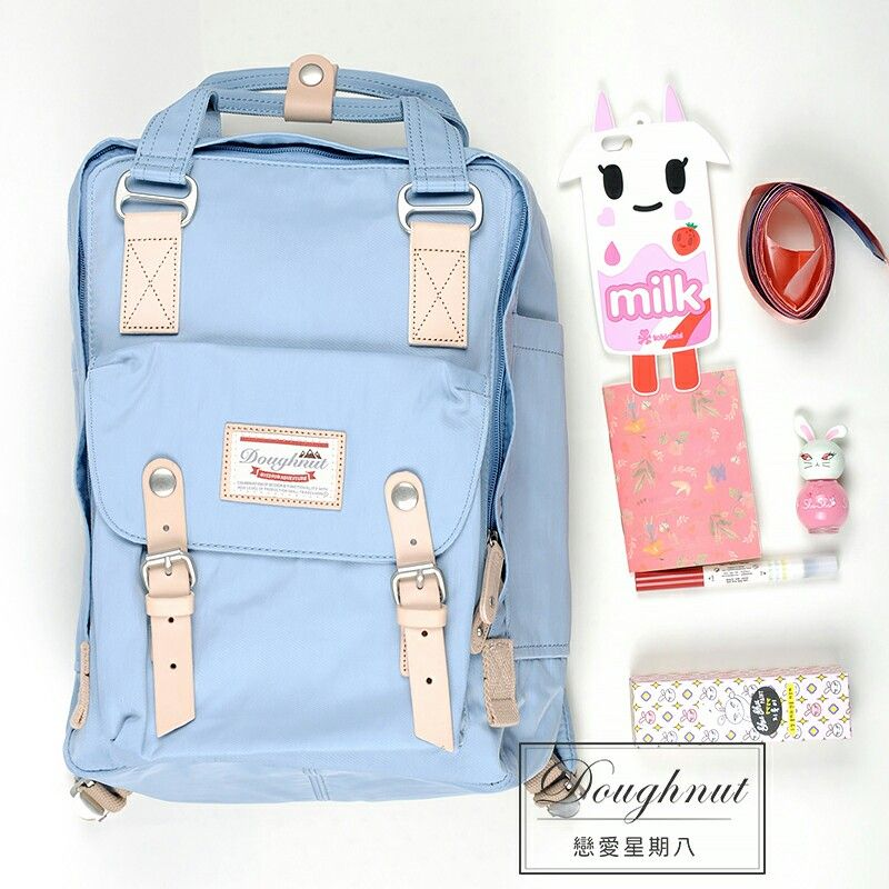 67beae7dc light blue doughnut backpack classic, sweet and mild, great for your daily  us!!