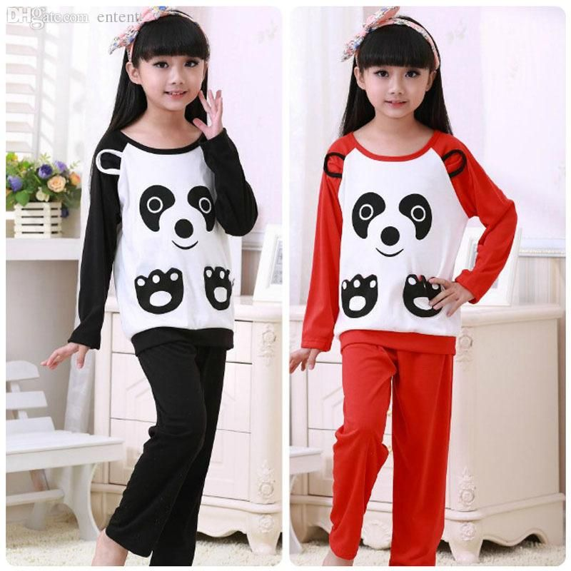 45296531c5 Discount Wholesale  Pajamas  For Boys Girls Cotton Pyjamas Sleep Children S  Lovely Nightclothes For Home O Neck Baby Clothing Set Long Pants From China  ...