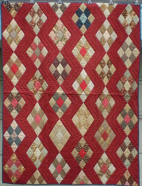 Antique Zig Zag quilt by ann_champion, via Flickr