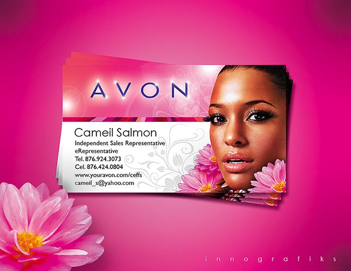 Awesome AVON Business Card Template By Using High Resolution - Avon business card template