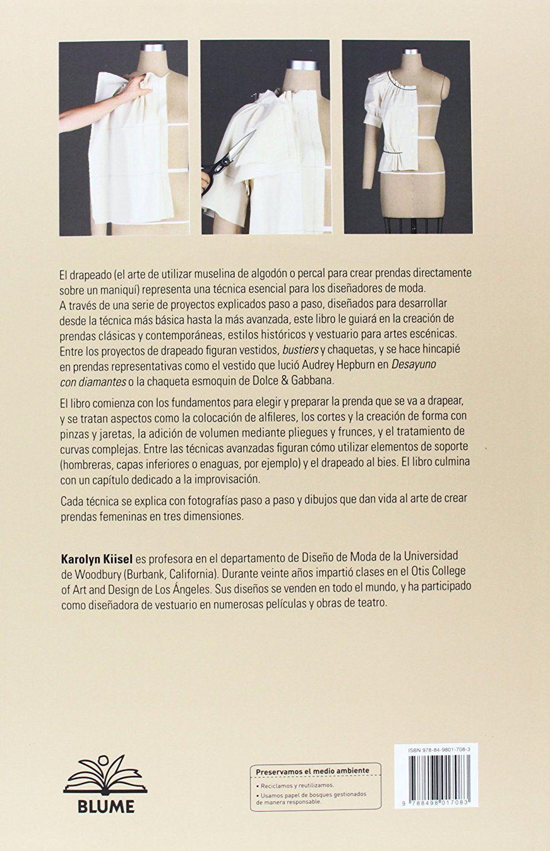 Drapeados: Curso completo para crear prendas sobre un maniquí ...