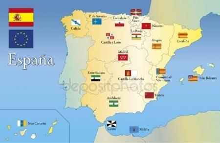 Programma E Bandierina Regionale Spagna Comunita Autonoma Della