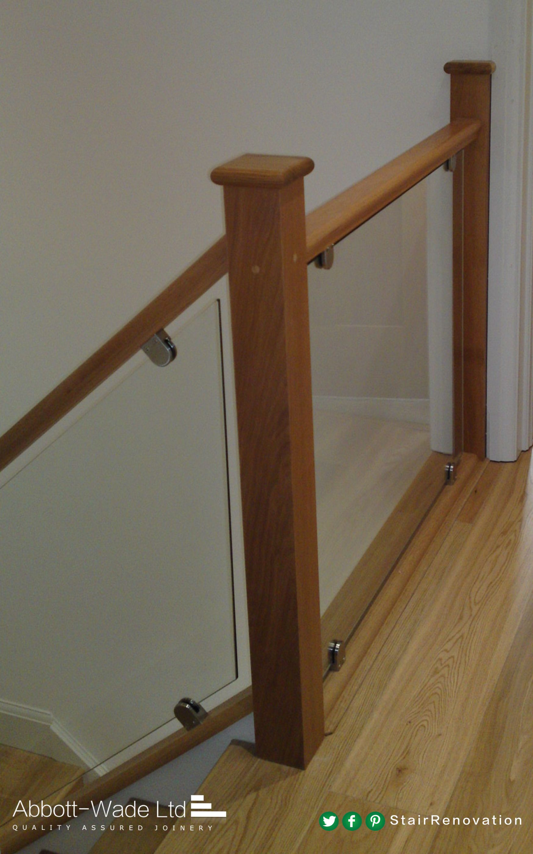 Paneled Staircase A Beautiful Oak And Glass Staircase With Oak Floorboards