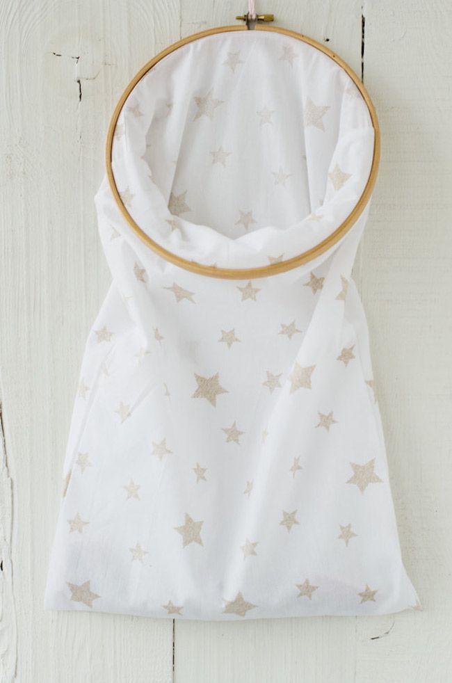 DIY: Bolsa ropa sucia - Laundry bag | PATRONES BEBE