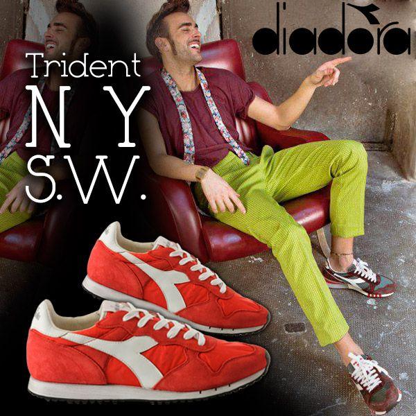 Anche Marco Mengoni è un fan di Diadora Trident. Che ne dite di un bel rosso con l'esclusivo trattamento Stone Wash?  Ora su YouSporty gli arrivi della nuova linea a € 134,90 !!!   www.yousporty.com/Novita/DI/Trident