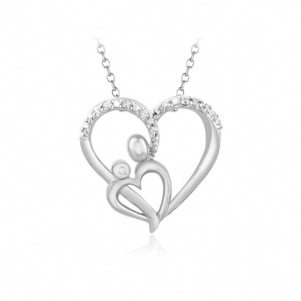 Mother And Child Pendant 2 Sizes 14Kt Rose Yellow Or White Gold Or Sterling