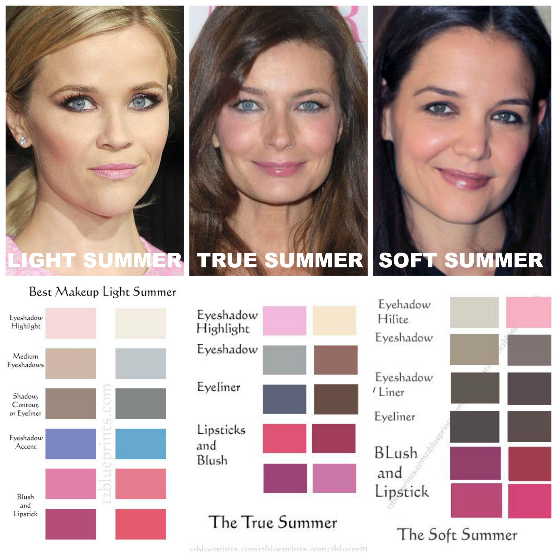 Summer Makeup Comparisons. LIGHT SPRING makeup is light