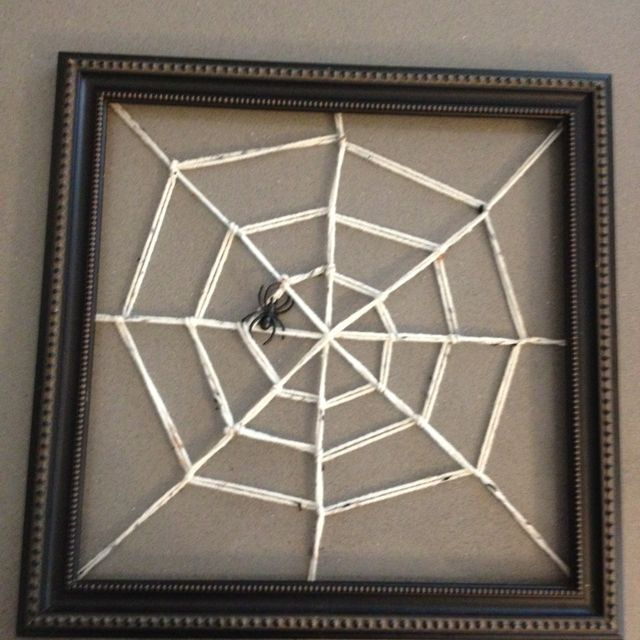 Spider Web Picture Frame