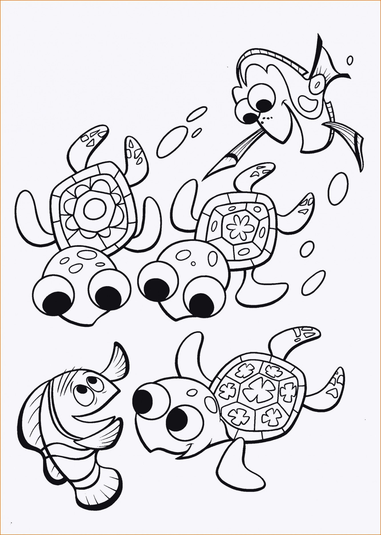Finding Dory Coloring Pages For Your Children Finding Nemo