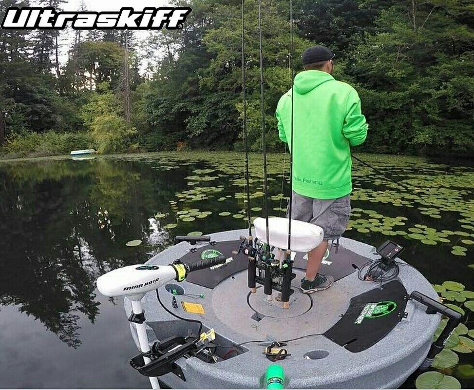 Ultraskiff round boat round watercraft round skiff for 1 man fishing boat