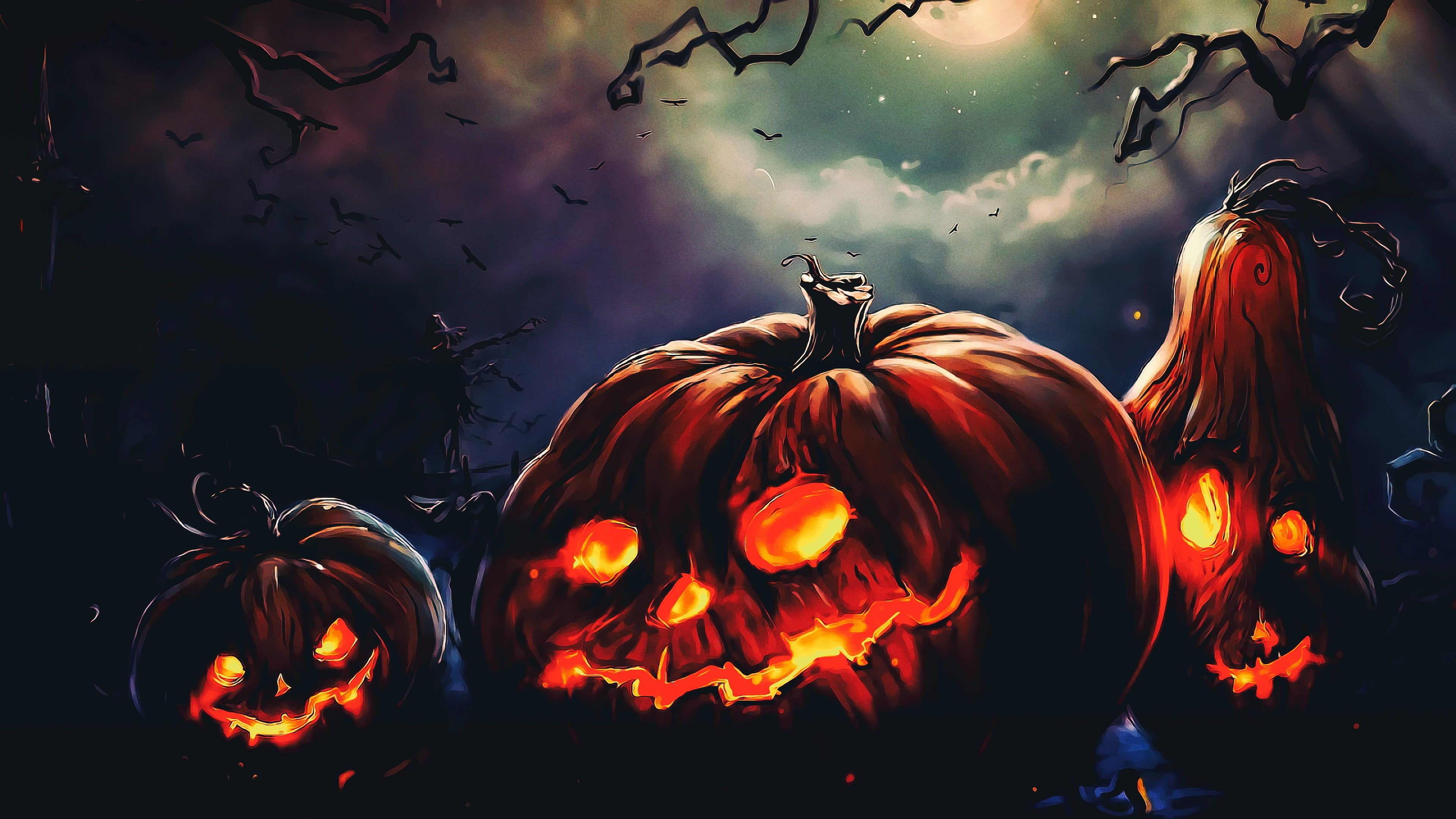 Jack O Lantern Wallpaper Halloween Terror Night Fantasy Art Photoshop 4k Wallpaper Hdwallpaper Desktop Halloween Decoracao Halloween Decoracao