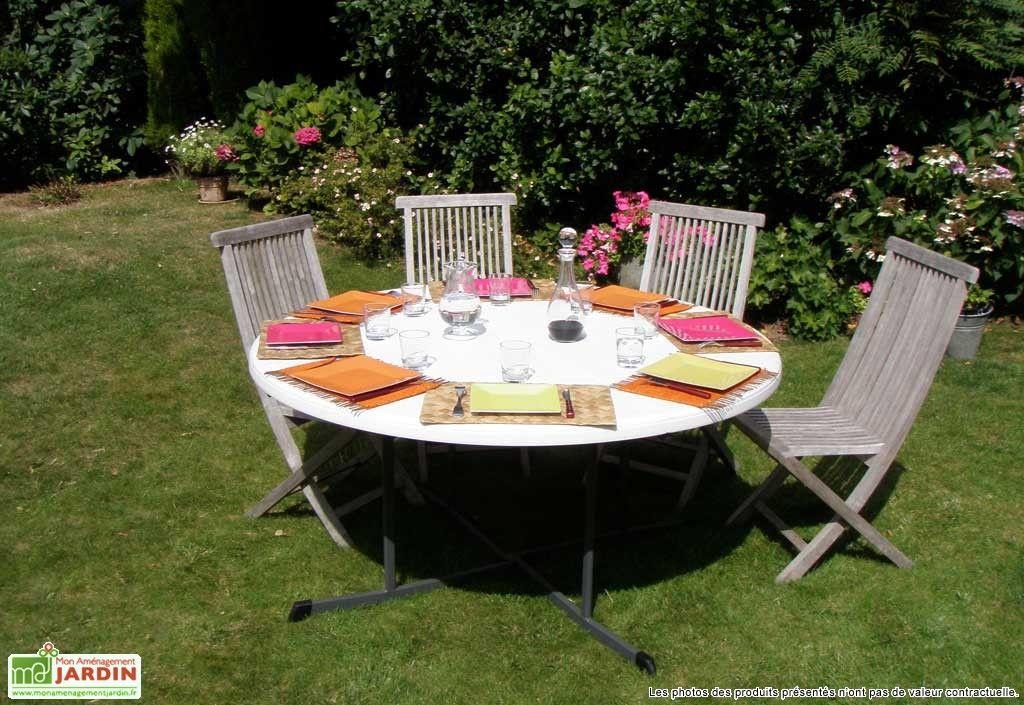 lot de 12 tables r sine rondes pliantes ambre d152 cm. Black Bedroom Furniture Sets. Home Design Ideas