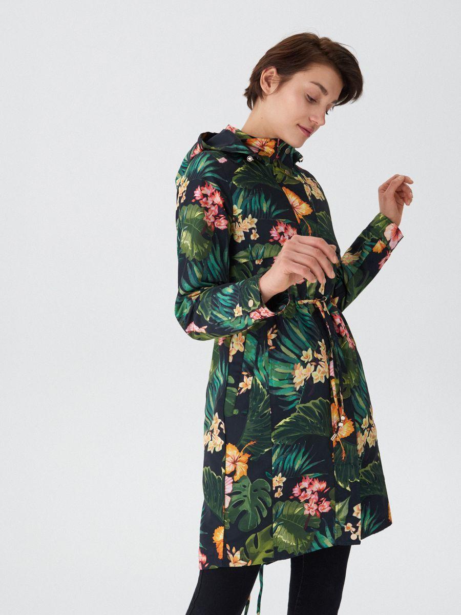 W2019 Parka Z Tropikalnym Printem House Uo505 Mlc Parka Tropical Print Fashion