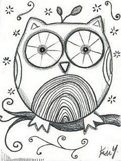 Une chouette toute chouette et facile a dessiner dessin - Chouette a dessiner ...