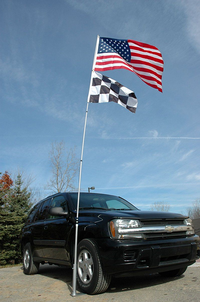 Flagpole To Go Ultimate Tailgaters Package With 20 Portable Flagpole Telescoping Flagpole Portable Flag Pole Tailgating