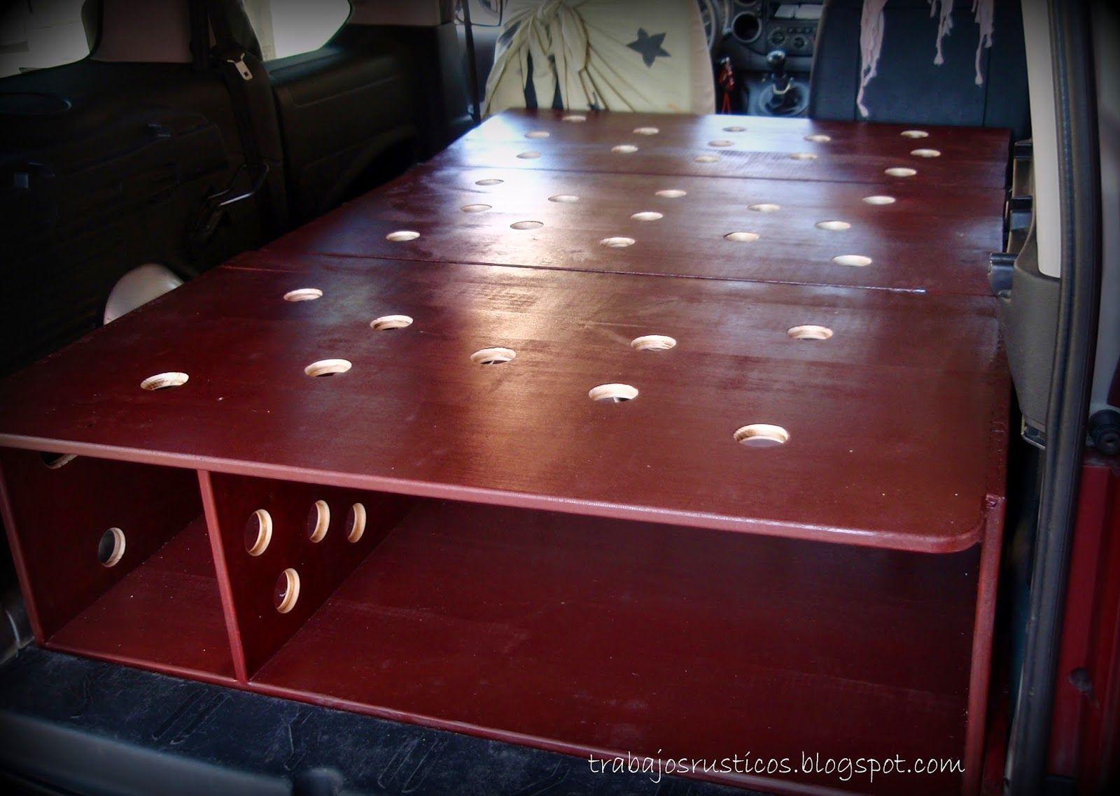 Trabajos R Sticos Mueble Cama Para Peugeot Partner Tepee Camper  # Mueble Vagoneta