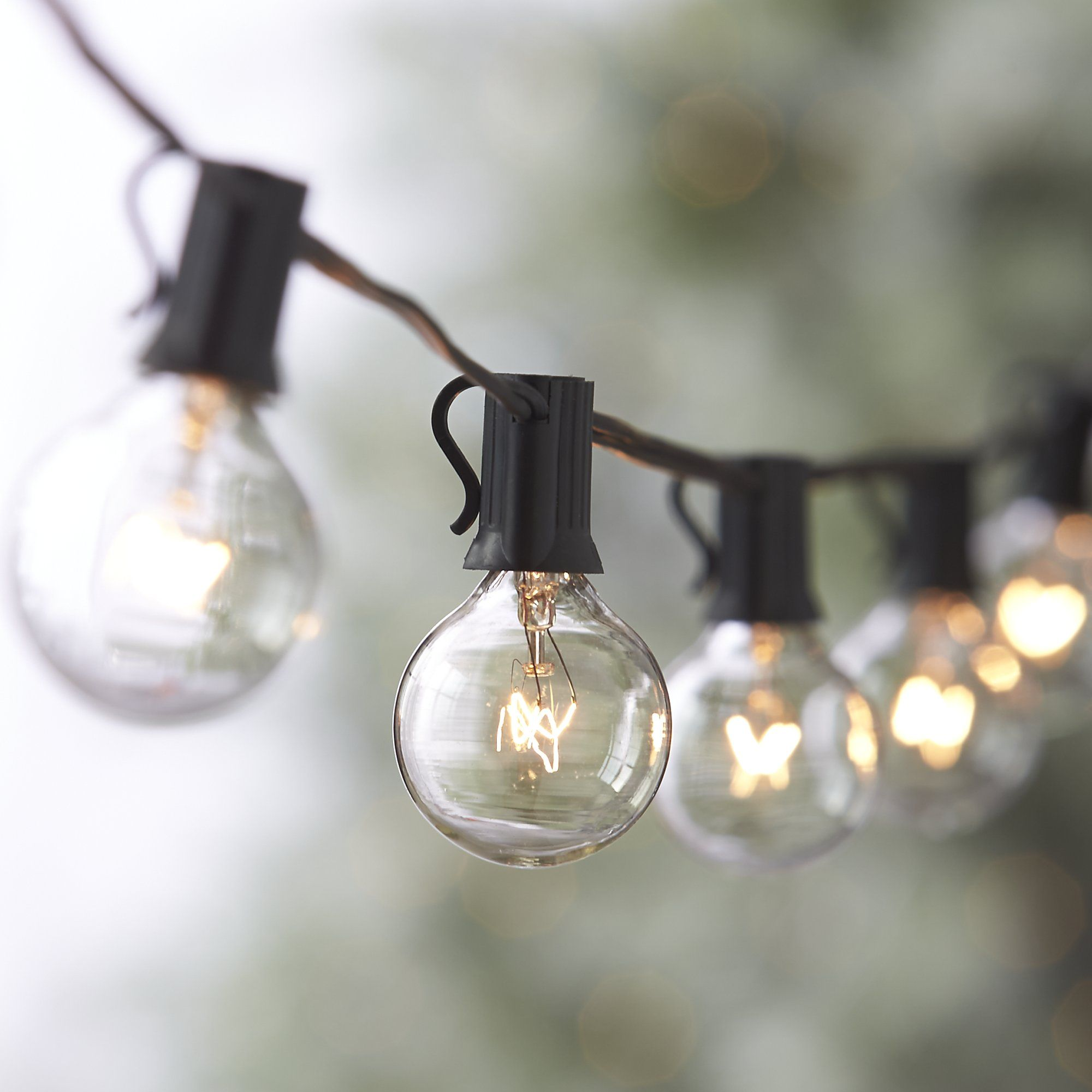 Light Bulbs On A String Simple Globe String Lights  Globe String Lights Crates And Barrels Inspiration Design