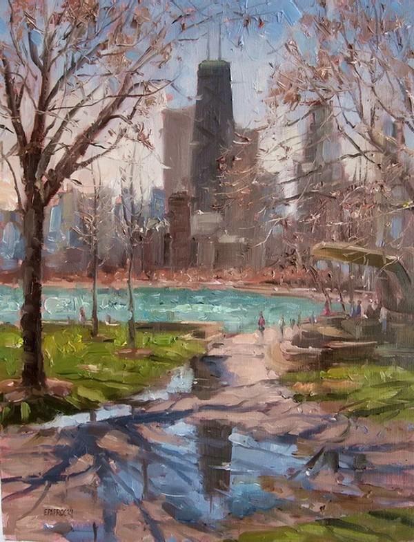 Impressionist cityscapes Eugene J. Paproski (EJ Paprocki)