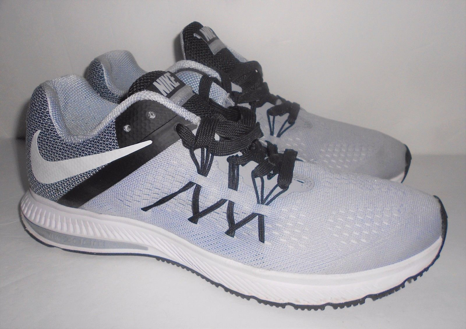 quality design 9823e 3a6a7 NIKE ZOOM WINFLO 3 mens running shoes sz 9 SNEAKERS GREY ...
