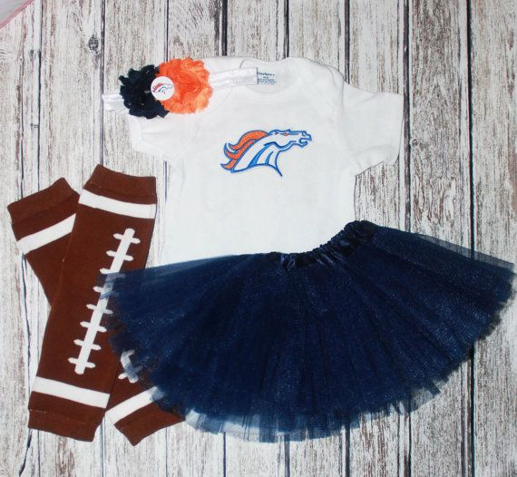 47ffd1a2 Broncos Girl Game day outfit baby girl by Thehairbowstorenmore ...