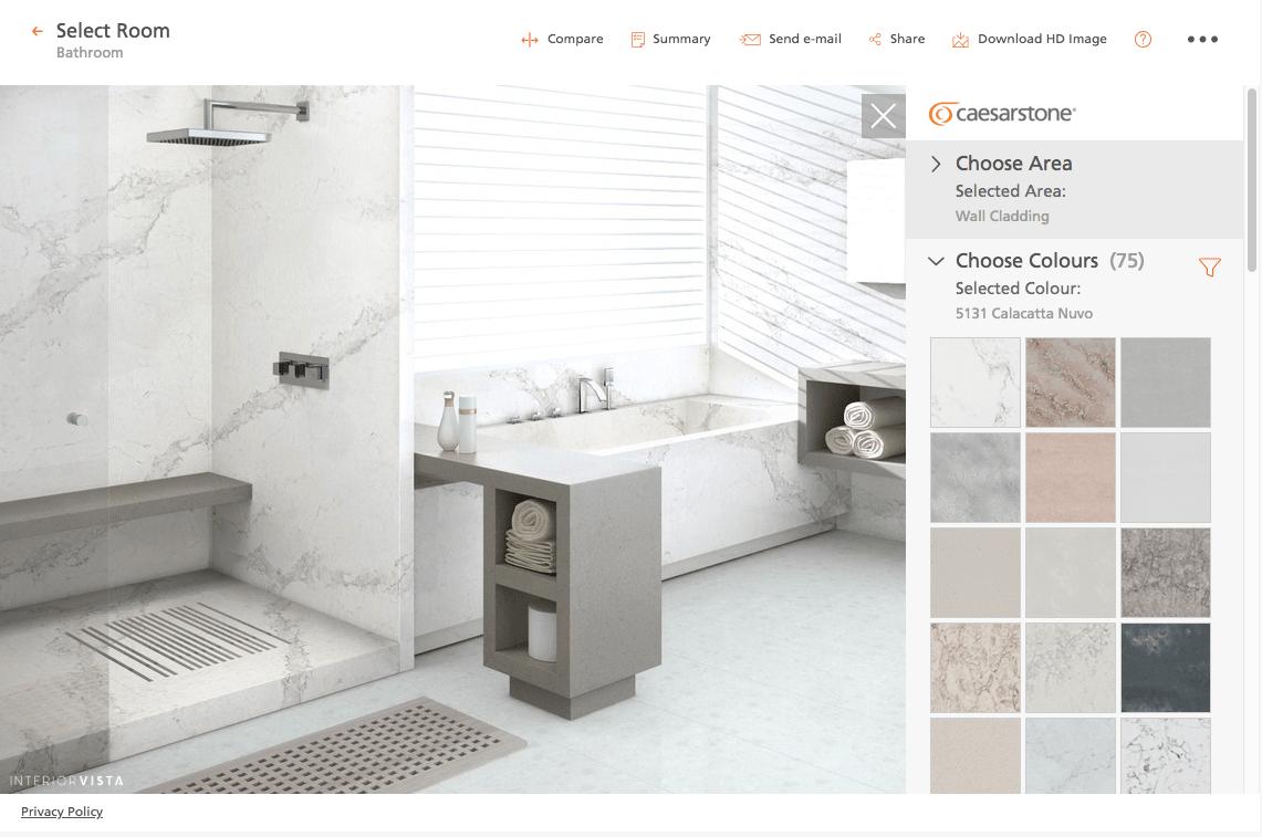 Caesarstone Bathroom Design Visualizer Software