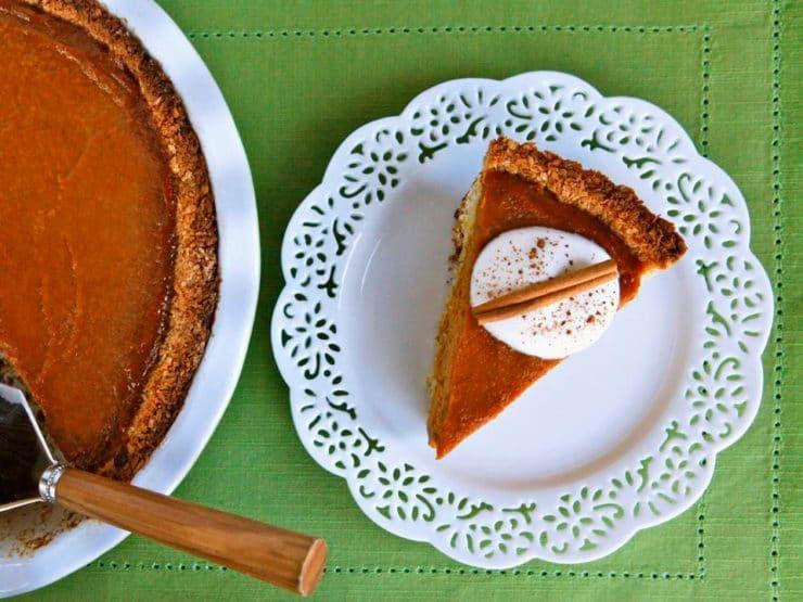 Coconut Macaroon Pumpkin Pie Make A Delicious Gluten Free Dairy