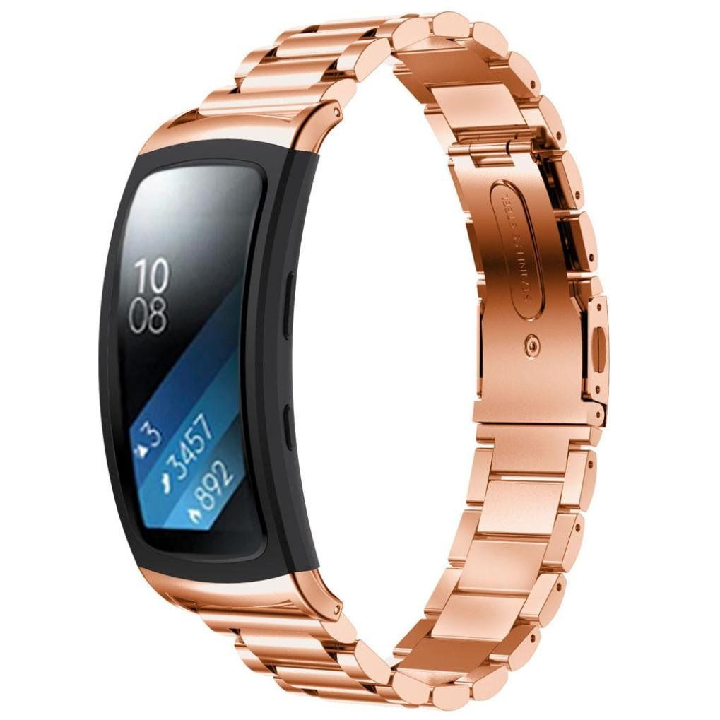 For Samsung Gear Fit 2 SM-R360, Lucoo® Luxury Stainless Steel Bracelet Smart Watch Band Strap For Samsung Gear Fit 2 R360 (Rose Gold) ** See this awesome image  : Travel Gadgets