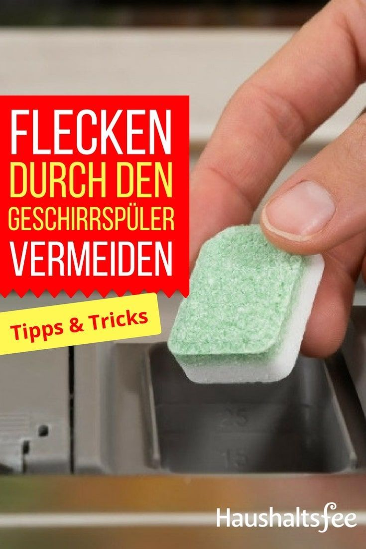 Nie wieder Wasserflecken in der Spülmaschine