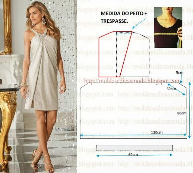 Moldes Moda por Medida | Dress patterns | Pinterest | Molde ...