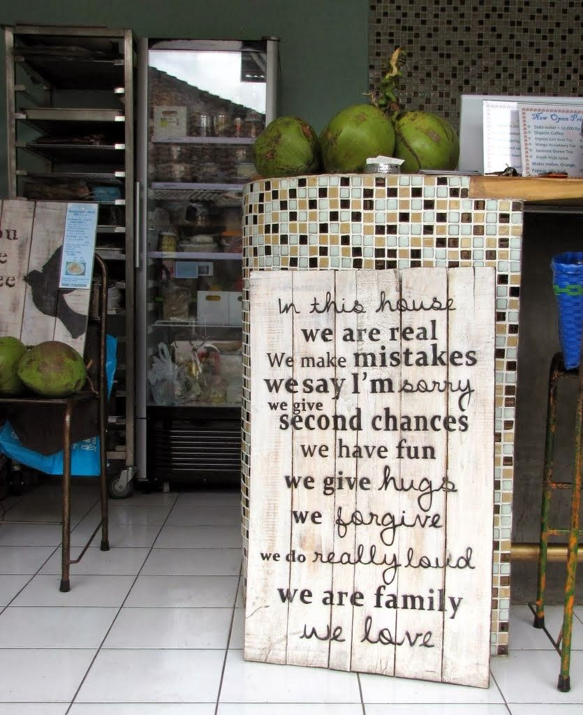 In This House Sign In An Ubud Cafe Bali Indonesia Bali Indonesia Bali Indonesia