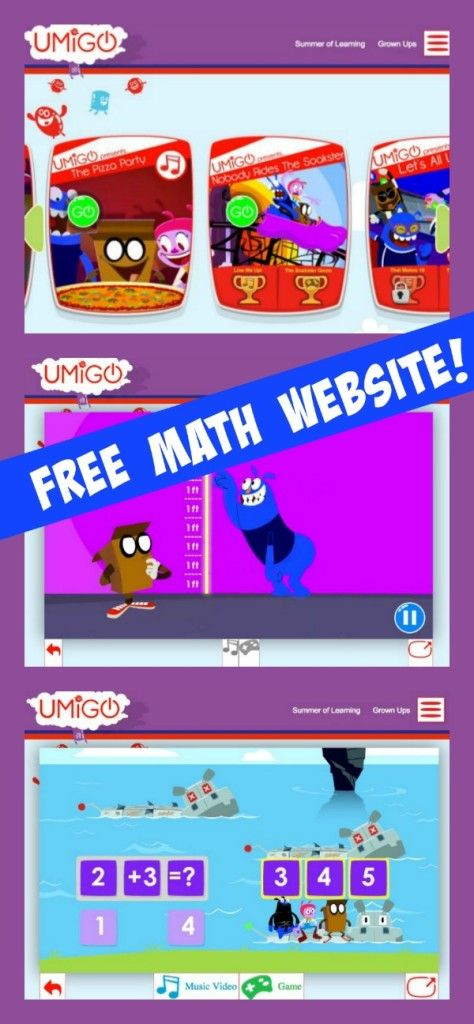 UMIGO Free Math Website | Free math, Math and Kindergarten