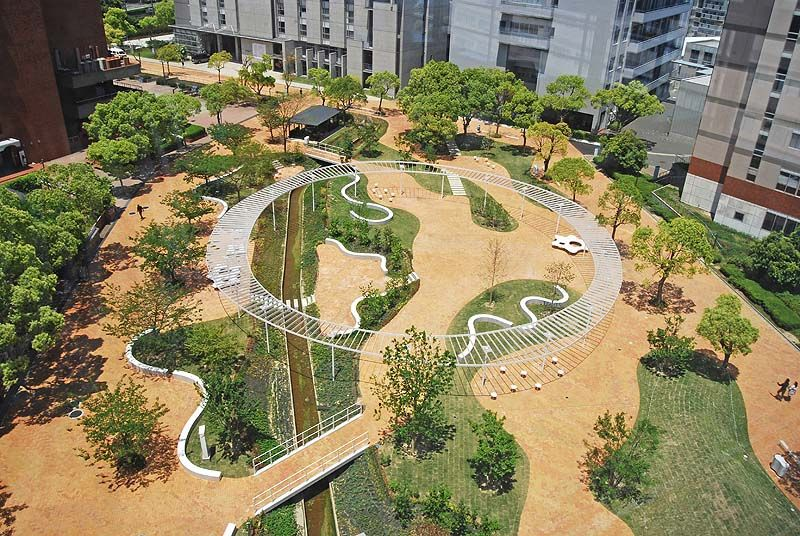 Enochliew kyushu sangyo university landscape by for Master of landscape architecture adelaide university