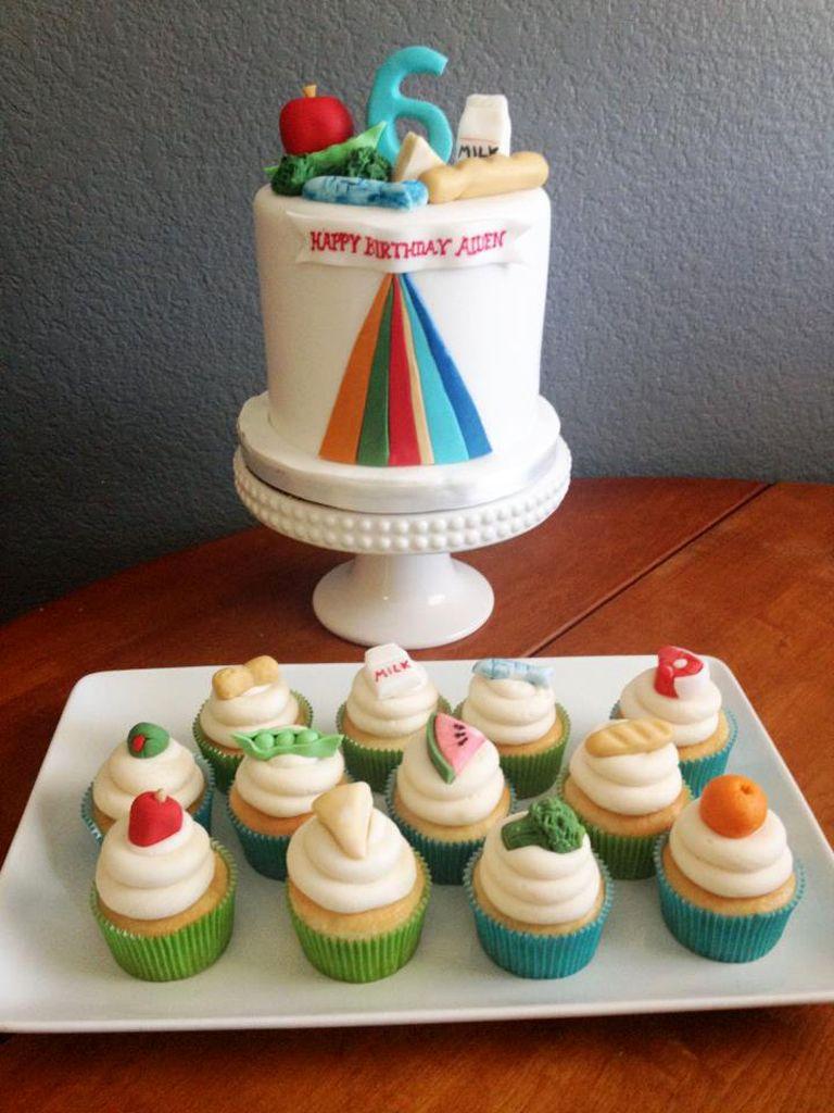 Peachy Food Pyramid Birthday Cake With Images Cake Birthday Cake Food Birthday Cards Printable Giouspongecafe Filternl